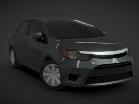 Low-Poly Vios Sedan