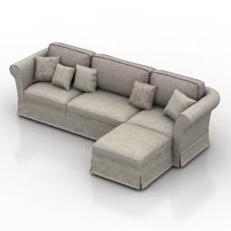 Sofa L Classic 3d model