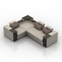 Sofa PanDivan Stels 3d model