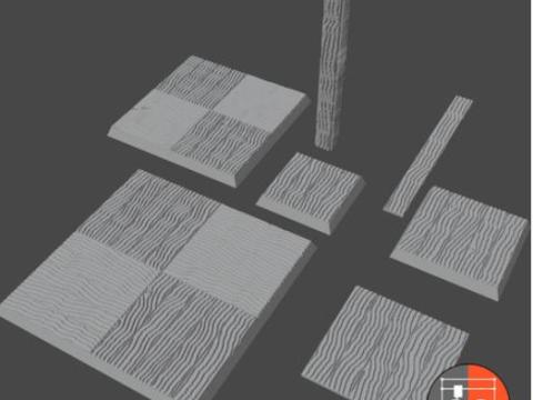 Wood Generator - Example Pieces